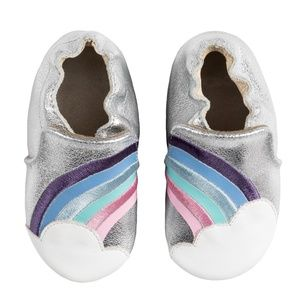 Robeez Baby Shoes - Hope Silver - 18-24M